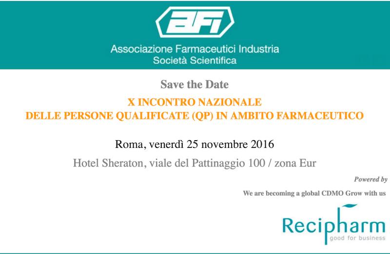 IX Incontro Nazionale delle Persone Qualificate (QP) in ambito farmaceutico